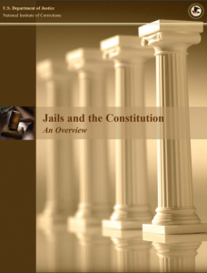Jails and the Constitution: An Overview. Second ed. cover