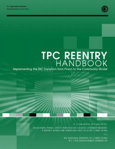 TPC Reentry Handbook: Implementing the NIC Transition from Prison to the Community Model Cover