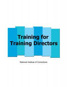 Training for Training Directors Cover