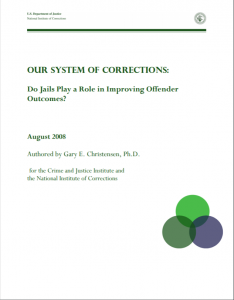 Do Jails Play a Role in Improving Offender Outcomes? cover