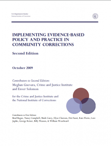 Implementing Evidence-Based Policy and Practice in Community Corrections cover