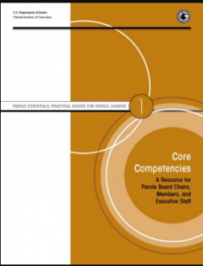 Core Competencies: A Resource for Parole Board Chairs, Members, and Executive Staff Cover