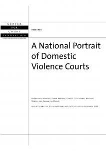 A National Portrait of Domestic Violence Courts Cover