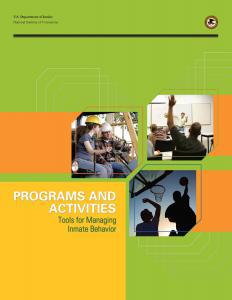 Programs and Activities: Tools for Managing Inmate Behavior Cover