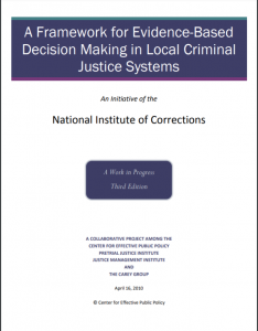 A Framework for Evidence-Based Decision Making in Local Criminal Justice Systems cover