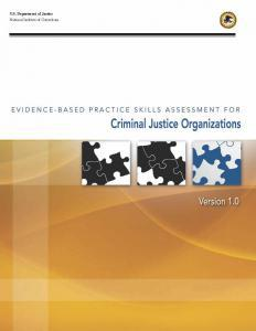 Evidence-Based Practice Skills Assessment for Criminal Justice Organizations, Version 1.0 Cover