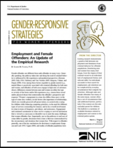 Employment and Female Offenders:  An Update of the Empirical Research Cover