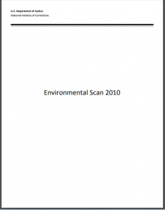 Environmental Scan 2010 cover