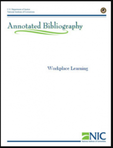 Workplace Learning Annotated Bibliography Cover