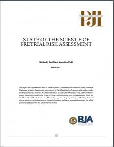 State of the Science of Pretrial Risk Assessment Cover