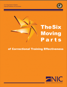 The Six Moving Parts of Correctional Training Effectiveness Cover