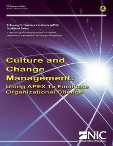 Culture and Change Management: Using APEX to Facilitate Organizational Change Cover