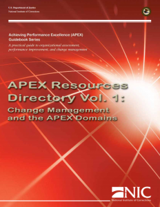 APEX Resources Directory Vol. 1: Change Management and the APEX Domains cover