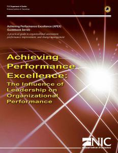 Achieving Performance Excellence: The Influence of Leadership on Organizational Performance Cover