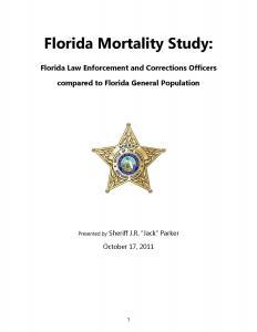 Florida Mortality Study: Florida Law Enforcement and Corrections Officers compared to Florida General Population Cover