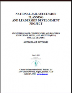 Identifying Core Competencies and Required Knowledge, Skills, and Abilities (KSAs) for Jail Leaders: Methods and Outcomes Cover