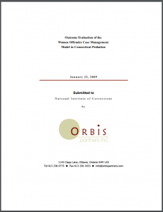 Outcome Evaluation of the Women Offender Case Management Model in Connecticut Probation Cover