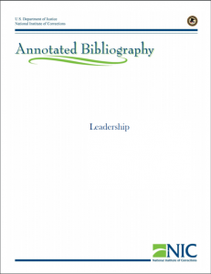 Leadership Annotated Bibliography cover