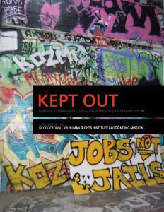 Kept Out: Barriers to Meaningful Education in the School-to-Prison Pipeline Cover