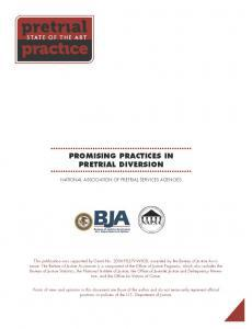 Promising Practices in Pretrial Diversion Cover