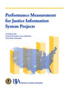 Performance Measurement for Justice Information System Projects Cover