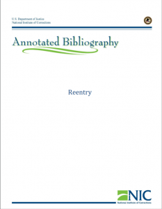 Reentry Annotated Bibliography cover