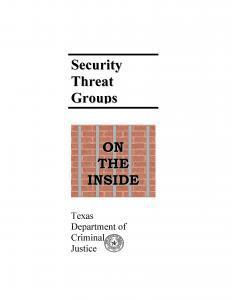 Security Threat Groups on the Inside Cover