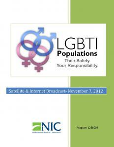 LGBTI Populations: Their Safety, Your Responsibility  Cover