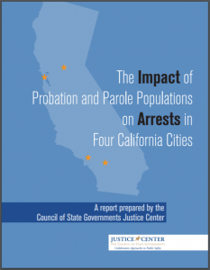 he Impact of Probation and Parole Populations on Arrests in Four California Cities Cover