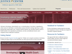 Developing A Mental Health Court Cover