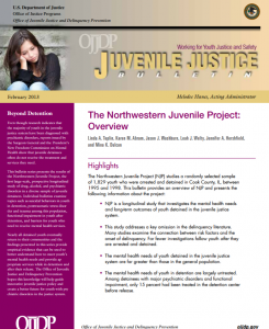 The Northwestern Juvenile Project Cover