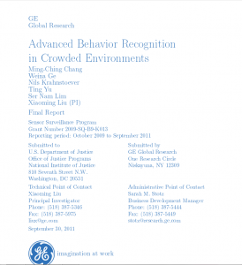 Advanced Behavior Recognition in Crowded Environments: Final Report Cover