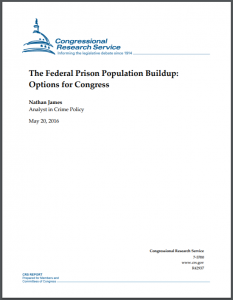 The Federal Prison Population Buildup: Overview, Policy Changes, Issues, and Options Cover