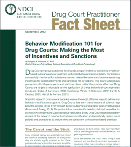 Behavior Modification 101 for Drug Courts: Making the Most of Incentives and Sanctions Cover