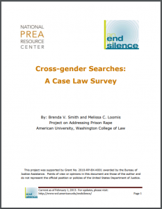 Cross-gender Searches: A Case Law Survey Cover