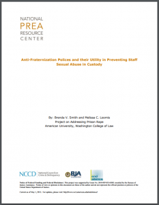 Anti-Fraternization Policies and their Utility in Preventing Staff Sexual Abuse in Custody Cover