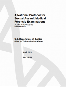 A National Protocol for Sexual Assault Medical Forensic Examinations Adults/Adolescents: Second Edition cover