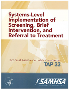 Systems-Level Implementation of Screening, Brief Intervention, and Referral to Treatment Cover