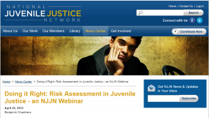 Doing it Right: Risk Assessment in Juvenile Justice - an NJJN Webinar Cover
