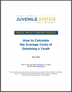 How to Calculate the Average Costs of Detaining a Youth Cover