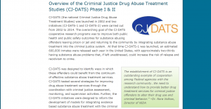 Criminal Justice Drug Abuse Treatment Studies (CJ-DATS) Cover
