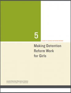 Making Detention Reform Work for Girls Cover