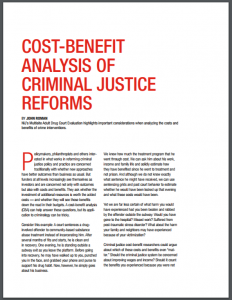 Cost-Benefit Analysis of Criminal Justice Reforms Cover