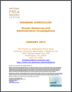 Human Resources and Administrative Investigations Employee Training Cover