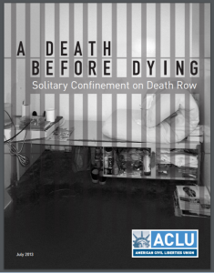 A Death Before Dying: Solitary Confinement on Death Row Cover