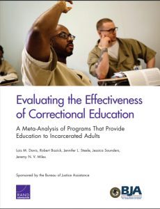 Evaluating the Effectiveness of Correctional Education: A Meta-Analysis of Programs That Provide Education to Incarcerated Adults Cover