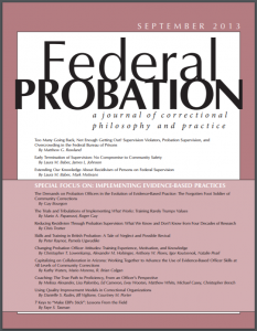 Reducing Recidivism Through Probation Supervision: What We Know and Don't Know From Four Decades of Research Cover