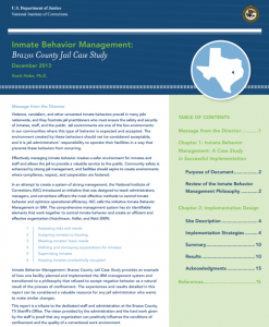 Inmate Behavior Management Cover