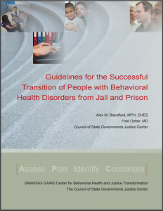 Guidelines for the Successful Transition of People with Behavioral Health Disorders from Jail and Prison Cover