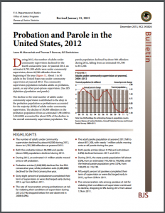 Probation and Parole in the United States, 2012 Cover